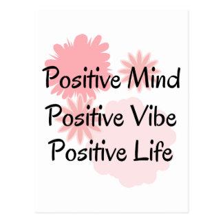 Positive Mind, Positive Vibe, Positive Life Quote Postcard
