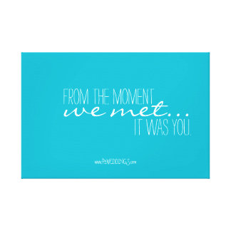 Positive Motivation Wedding Poster Turquoise Canvas Print