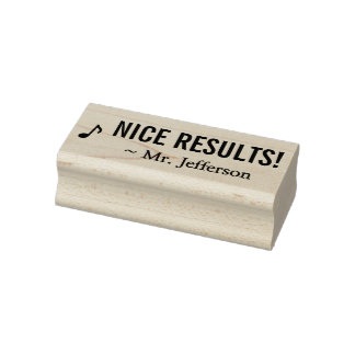 "Positive ""NICE RESULTS!"" Educator Rubber Stamp"