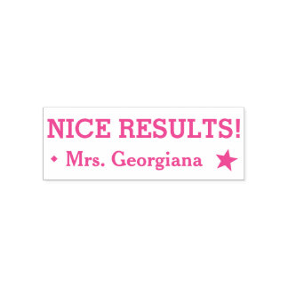 """Positive """"NICE RESULTS!"""" Grading Rubber Stamp"""