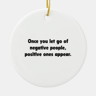 Positive Ones Appear Round Ceramic Ornament