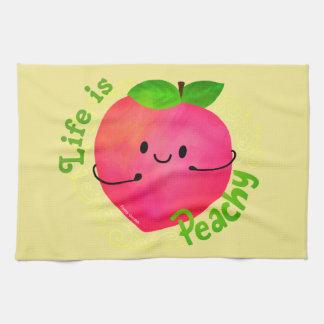 Positive Peach Pun - Peachy Kitchen Towel