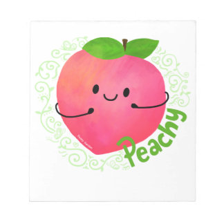 Positive Peach Pun - Peachy Notepad