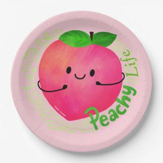 Positive Peach Pun - Peachy Paper Plate
