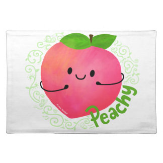Positive Peach Pun - Peachy Placemat