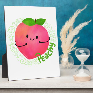 Positive Peach Pun - Peachy Plaque