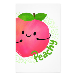 Positive Peach Pun - Peachy Stationery