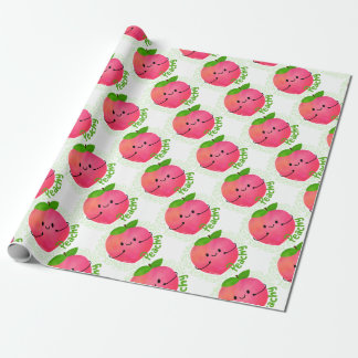 Positive Peach Pun - Peachy Wrapping Paper