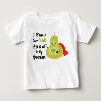 Positive Pear Pun - I Grow SuPear Food Baby T-Shirt