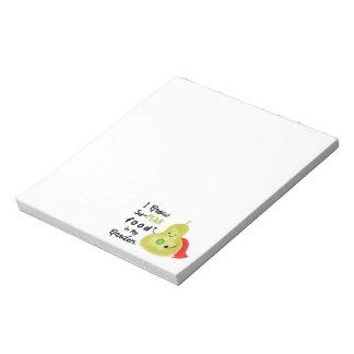 Positive Pear Pun - I Grow SuPear Food Notepad
