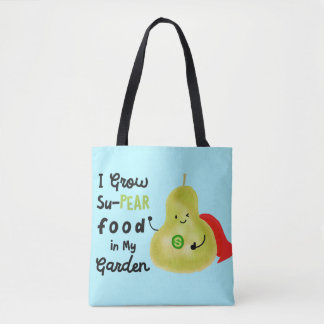 Positive Pear Pun - I Grow SuPear Food Tote Bag