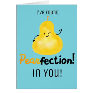 Positive Pear Pun - Pearfection Card