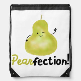 Positive Pear Pun - Pearfection Drawstring Bag