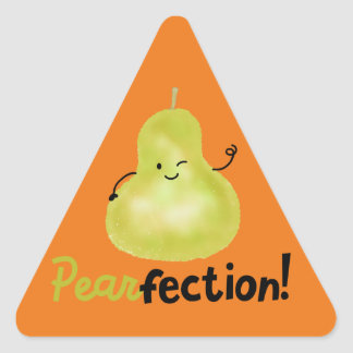 Positive Pear Pun - Pearfection Triangle Sticker
