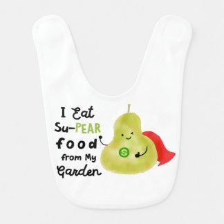 Positive Pear Pun - SuPear Food from my Garden Bib