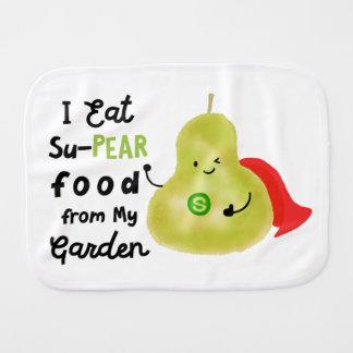Positive Pear Pun - SuPear Food from my Garden Burp Cloth