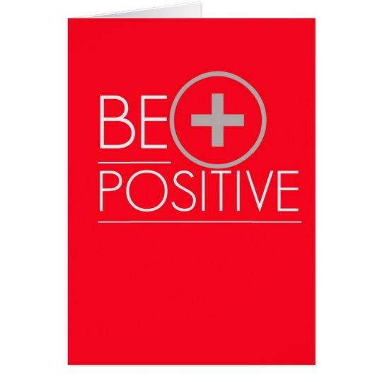 Positive Pregnancy Test Card