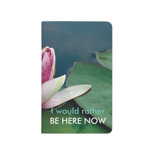 Positive Quote Lotus Photo Pocket Journal
