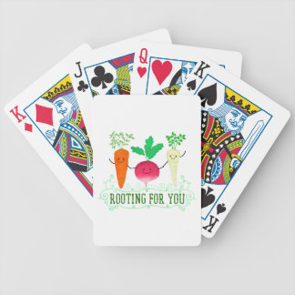 Positive Root Pun - Rooting for you Bicycle Playing Cards