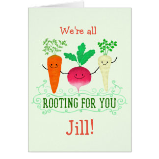Positive Root Pun - Rooting for you Card