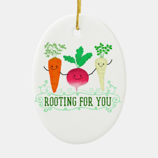 Positive Root Pun - Rooting for you Ceramic Ornament