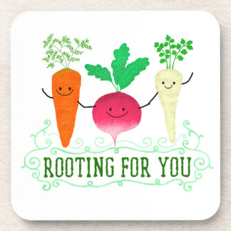 Positive Root Pun - Rooting for you Coaster