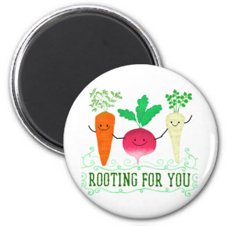 Positive Root Pun - Rooting for you Magnet