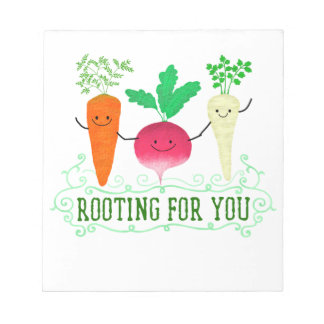 Positive Root Pun - Rooting for you Notepad