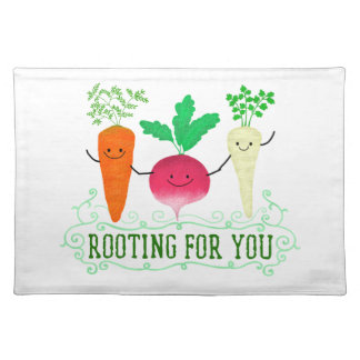 Positive Root Pun - Rooting for you Placemat