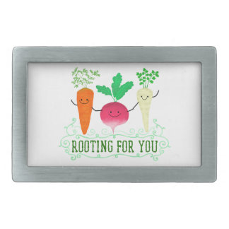 Positive Root Pun - Rooting for you Rectangular Belt Buckle
