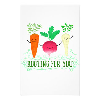 Positive Root Pun - Rooting for you Stationery