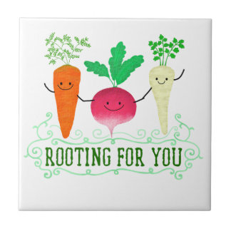 Positive Root Pun - Rooting for you Tile