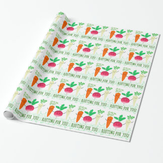 Positive Root Pun - Rooting for you Wrapping Paper