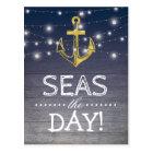 Positive Rustic Nautical | Seas the Day Postcard