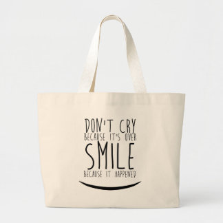 Positive smile large tote bag