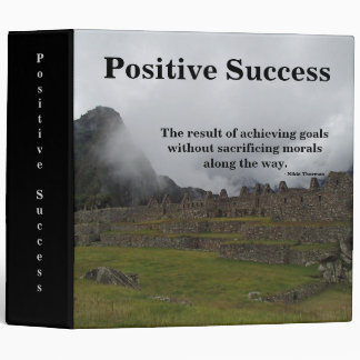 Positive Success 3 Ring Binder