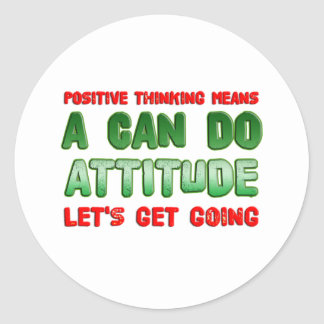 Positive Thinking Classic Round Sticker