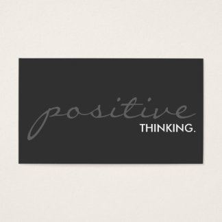 positive thinking. (color customizable) business card