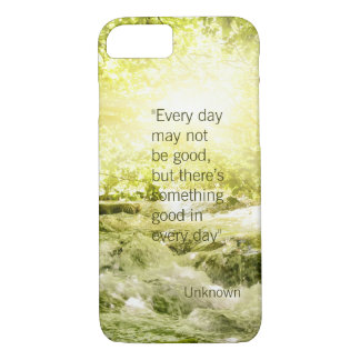 Positive thinking life quote waterfall background iPhone 7 case