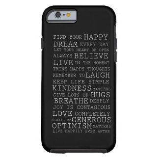 Positive Thoughts Tough iPhone 6 Case