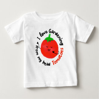 Positive Tomato Pun - From My Head Tomatoes Baby T-Shirt