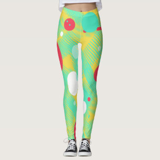 Positive Vibes Bright Colors Leggings