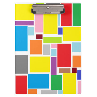 Positive Vibes Colorful Blocks Clipboard