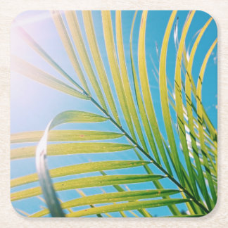 Positive Vibes Palm Tree Leaf Coaster