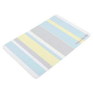 Positive Vibes Pastel Colors Floor Mat