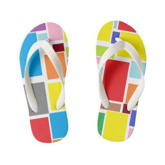 Positive Vibes Splash of color Flip Flops