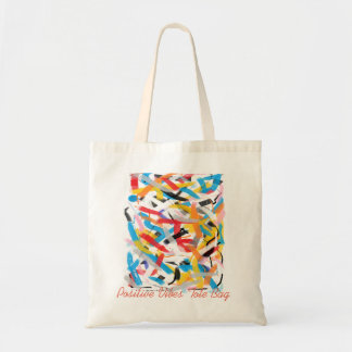 Positive Vibes Splash of Color Tote Bag