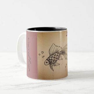 Positive vibes Two-Tone coffee mug