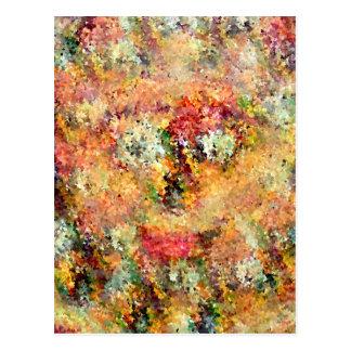 Positive Vibration Smiling Floral Face Postcard
