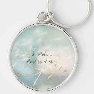 Positive wishes keychain